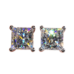 Studs Princess Diamond Solitaire Stud Earrings