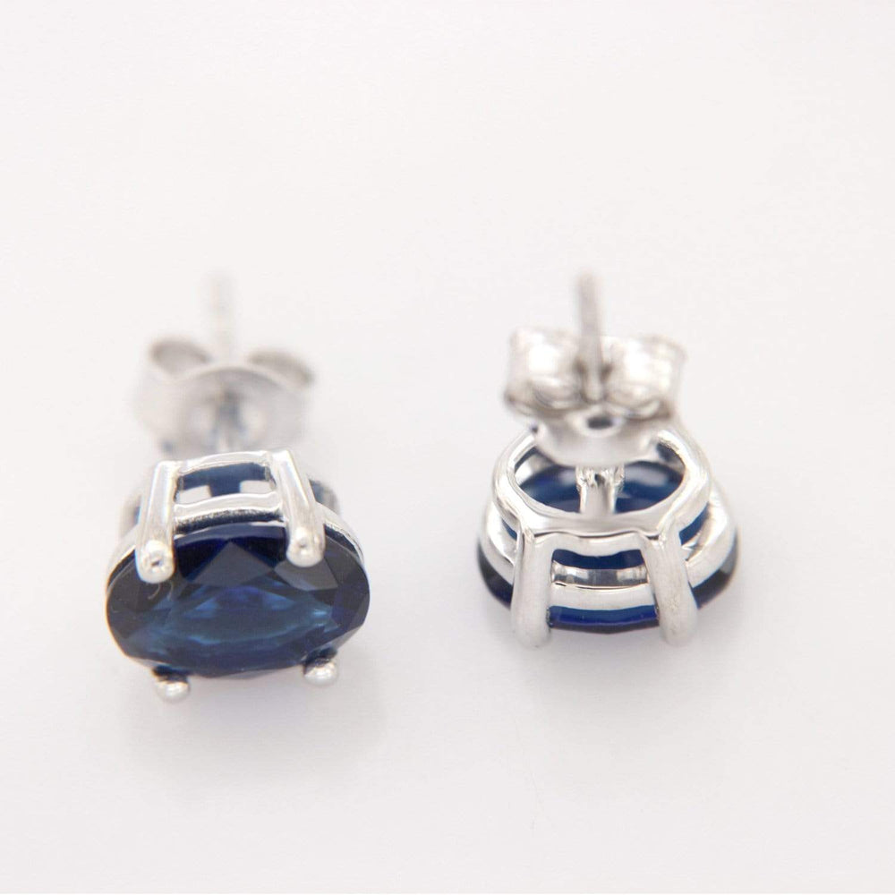 Studs Sapphire Solitaire Stud Earrings