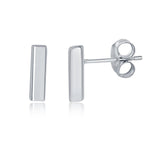 Studs Small Bar Stud Earrings Small Bar Stud Earrings Sterling Silver