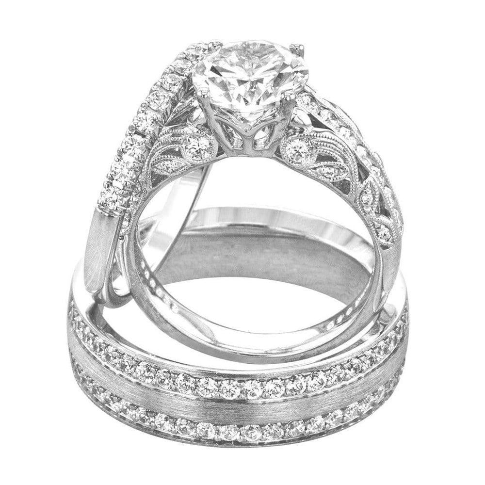 His & Hers Trio Bridal Ring Set