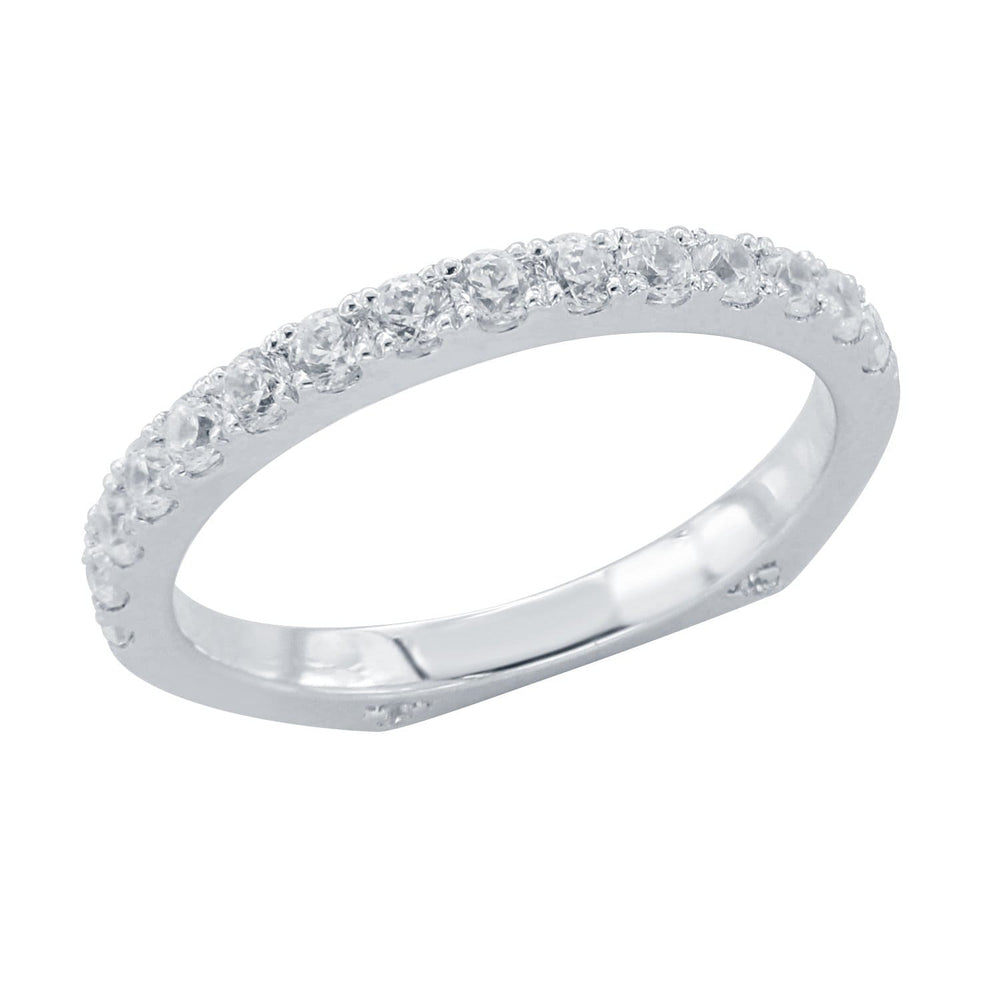 Euro Style Shank Half Eternity Wedding Band