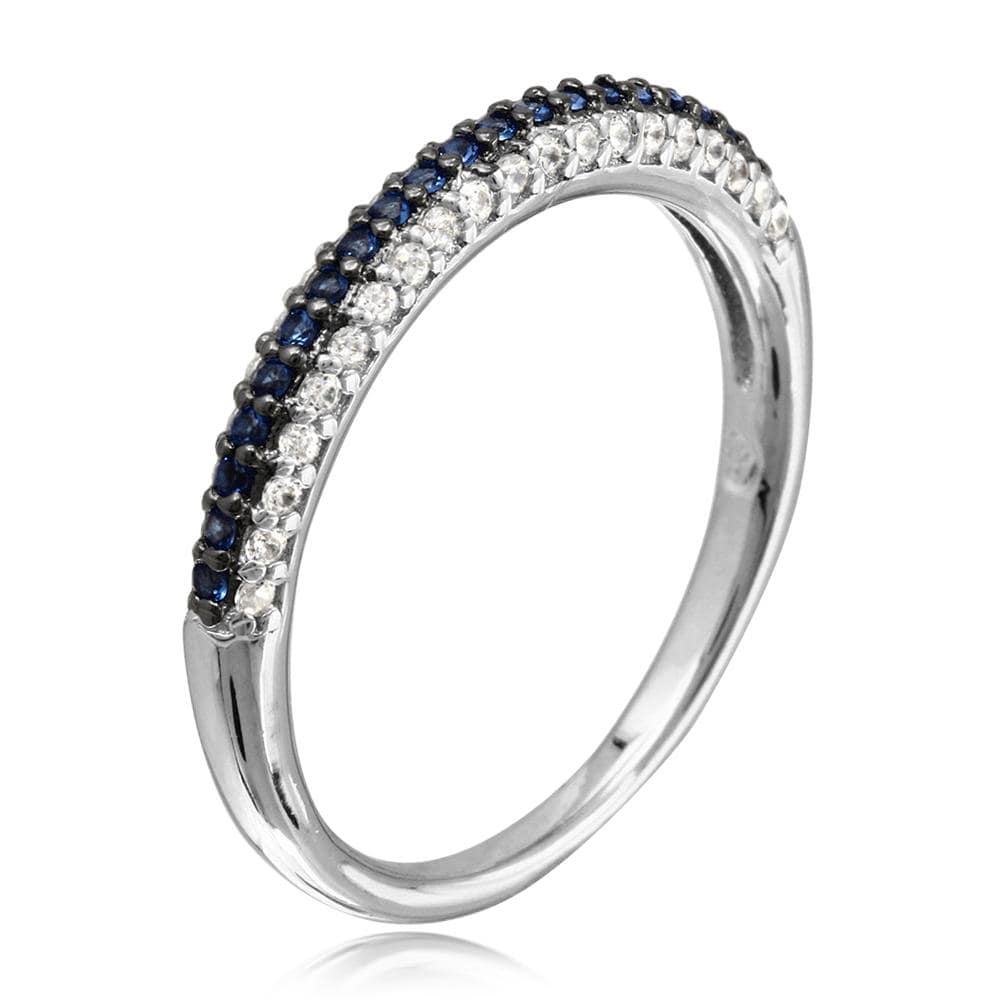 Sapphire Stackable Wedding Band Ring