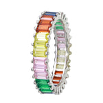 Multi Colored Full Eternity Bands