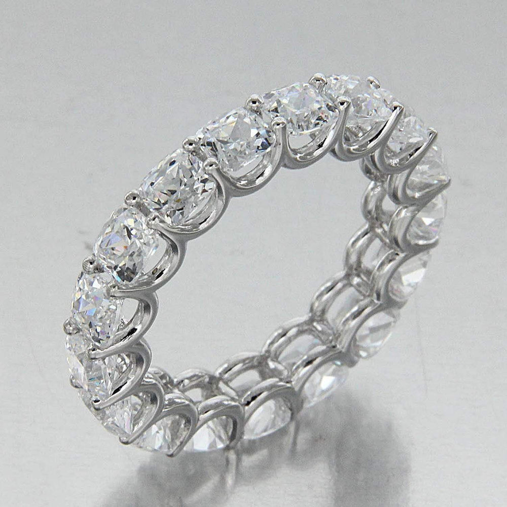 Cushion Cut Full Eternity Band Rings
