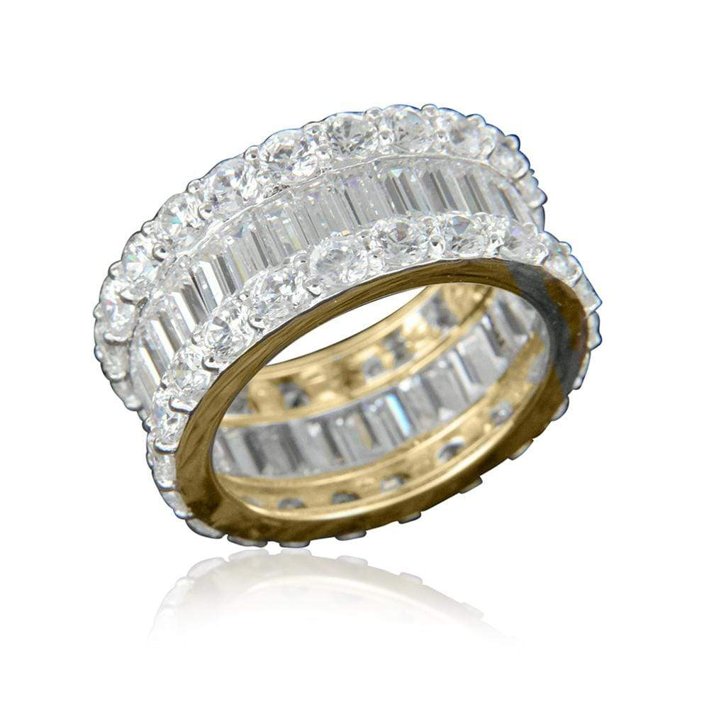 14k Yellow Gold Full Eternity Band
