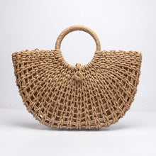 Load image into Gallery viewer, Oval beach hand bag - Tropicalia