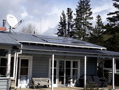 Gridfree off grid solar power kit installed on a house in the waikato