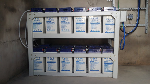 24kwh 48v battery bank (2v500ah Gel battery)