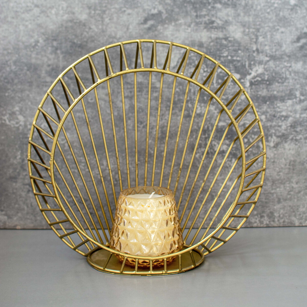 Metallic Wire Candle Stand Set