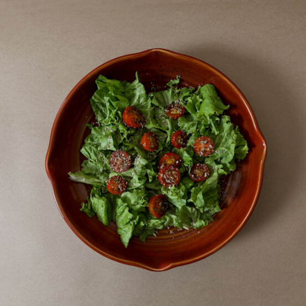 Red Ceramic salad Bowl