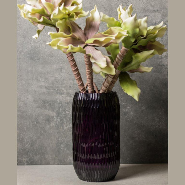 Hand-Cut Natural Coloured Florid Wine Vase