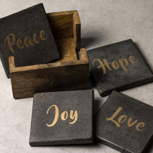 Love Peace Hope Joy Coaster Set