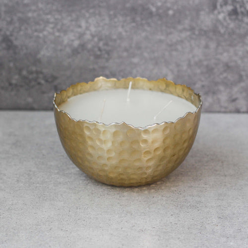 Gold Hammered Candle