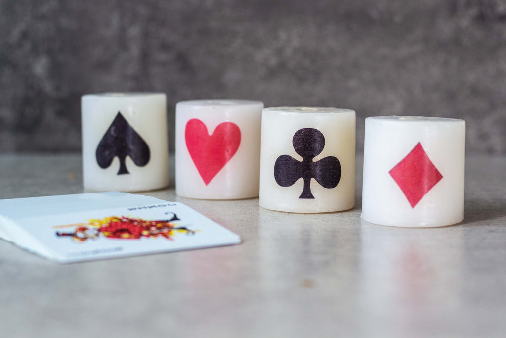 Teen Patti Candles Set Of 4