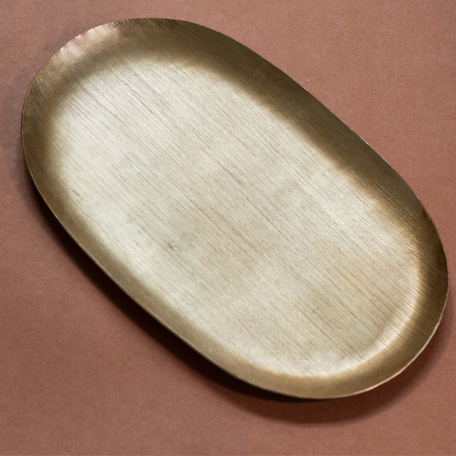 Oval Metallic Gold Platter Large