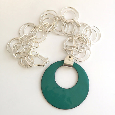 Off Center Circle Pendant