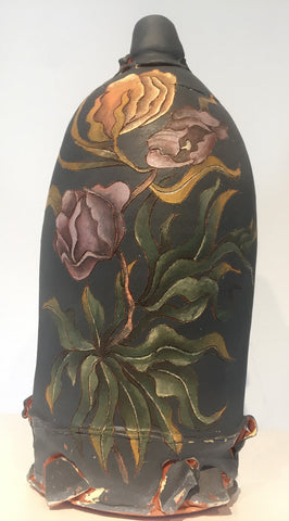 Bottle Form with Botanical
