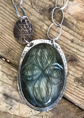 Large Carved Labradorite Necklace