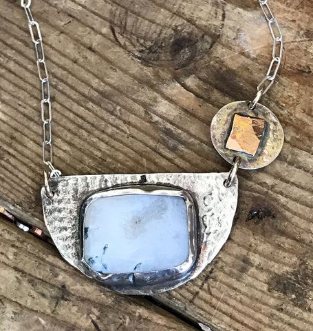 Druzy Textured Necklace
