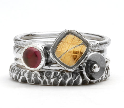 Set of Four Stack Rings