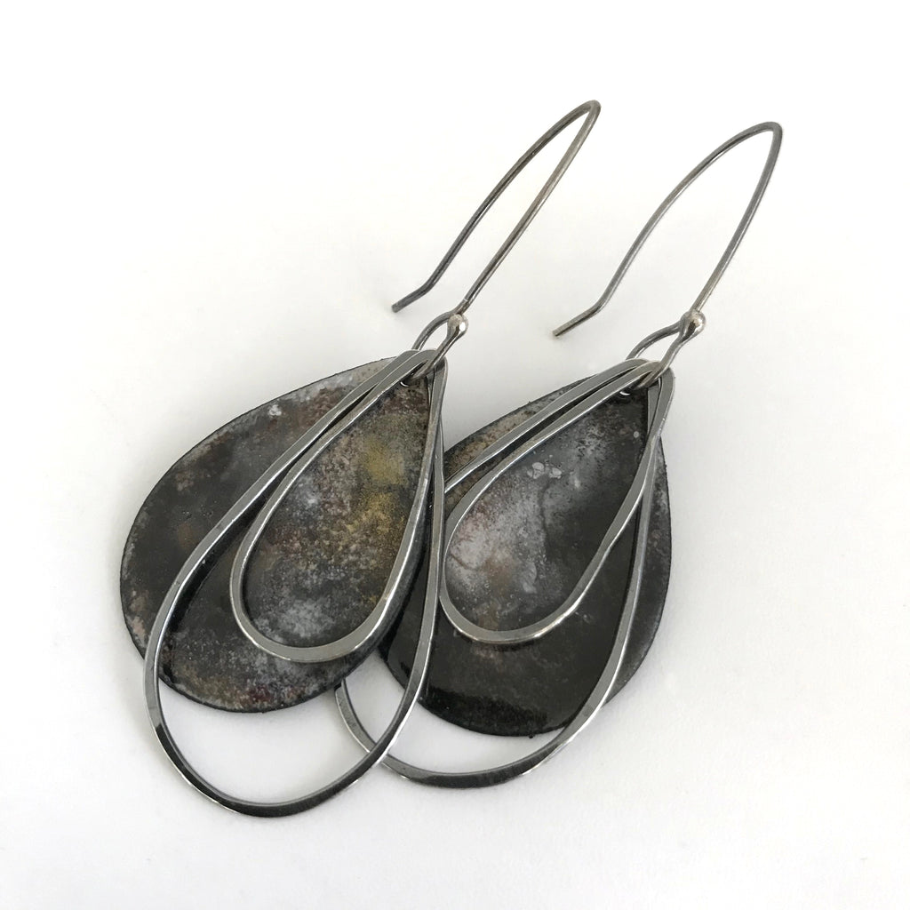 Earth Tone Teardrop Earrings