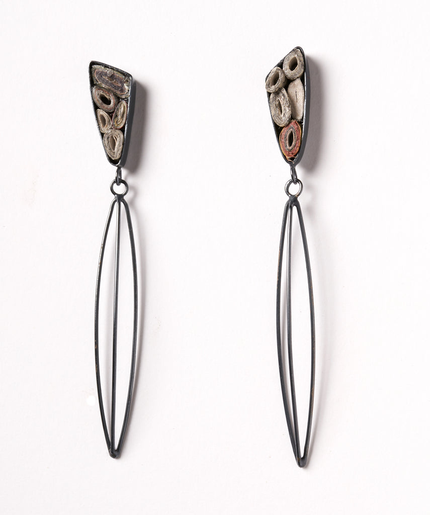 Echo Triangle Wire Earrings