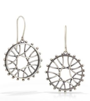 Circle Arc Earrings - Radial