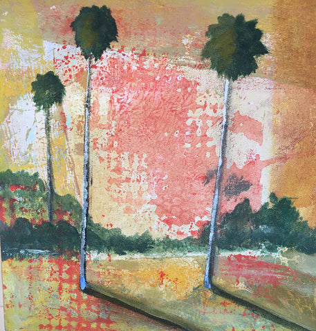 Cadmium Palms with Grid