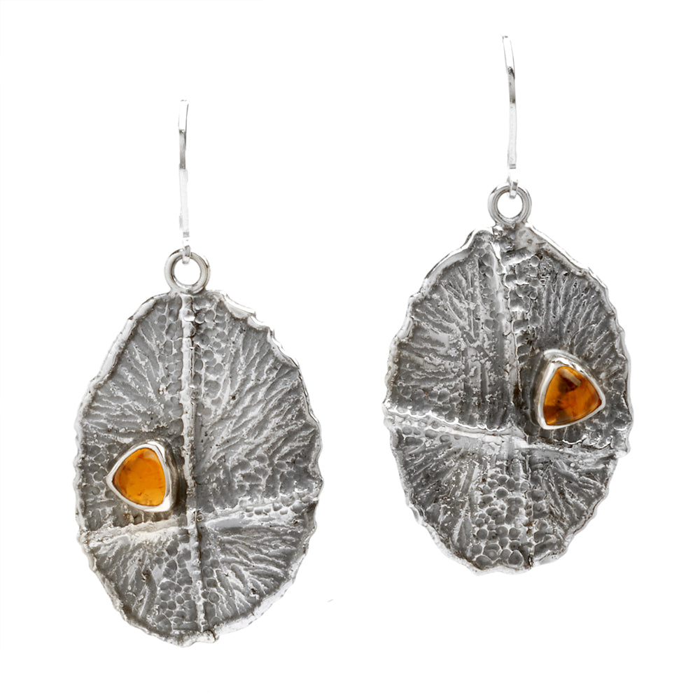 Textured Citrine Dangles