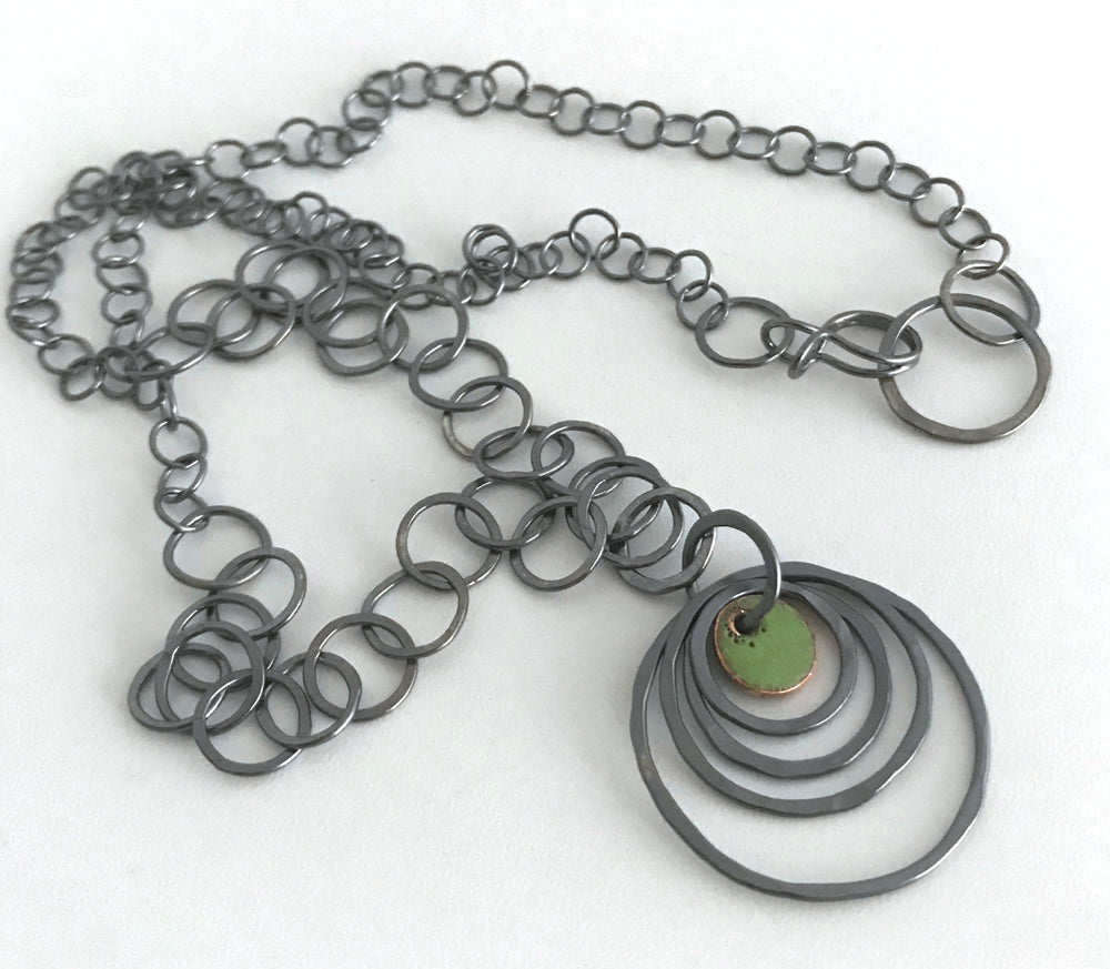 Circles and Tiny Dot Necklace
