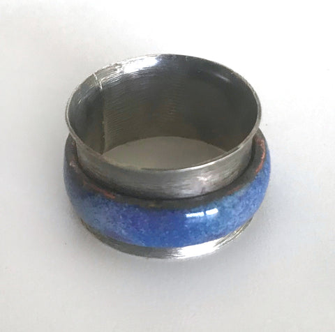 Dark Blue Spinner Ring