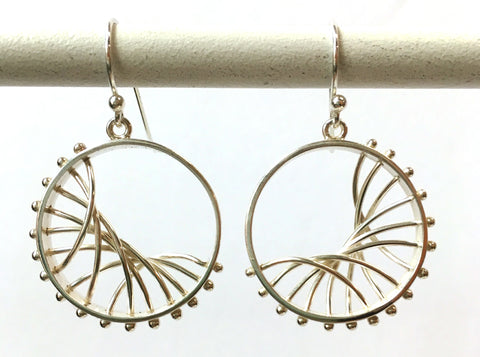 Circle Arc Earrings - Diagonal