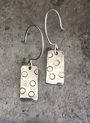 Bars with Circles Earrings