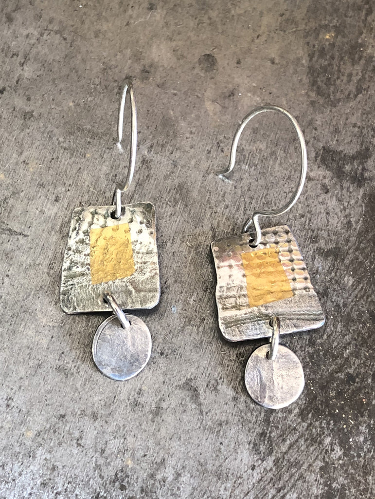 Square Textured Earrings