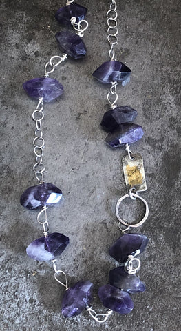 Amethyst Mixed Media Necklace