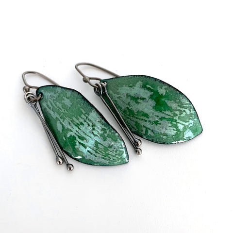 Green Leaf Earrings (no. 3)