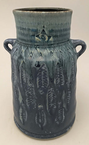 Blue Feather Vessel