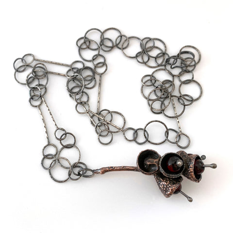 Electroformed Acorn Stem Necklace