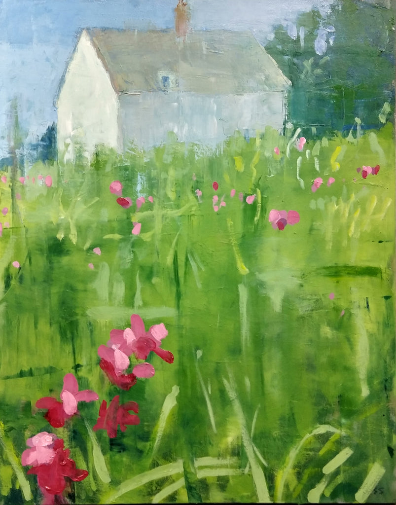 House with Pink Flowers