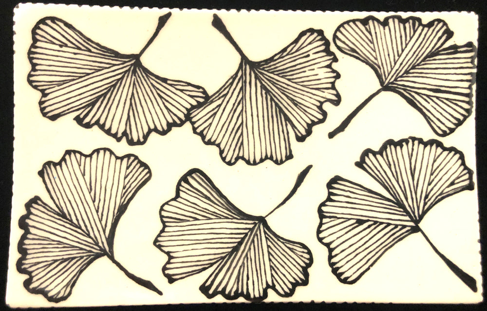 Ginko Pattern Soap Dish