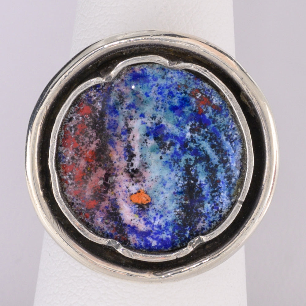 Round Ring with Colorful Enamel