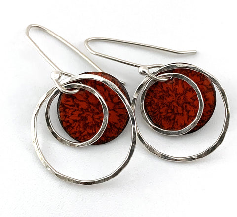 Orange Carnation Earrings
