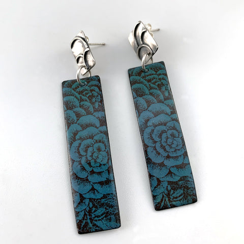 Blue Dahlia Post Earrings