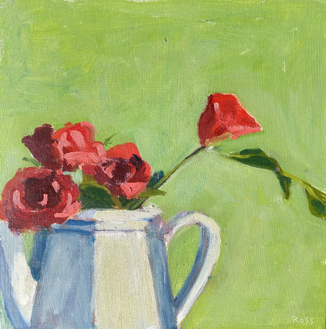 Tea Roses in a Teapot
