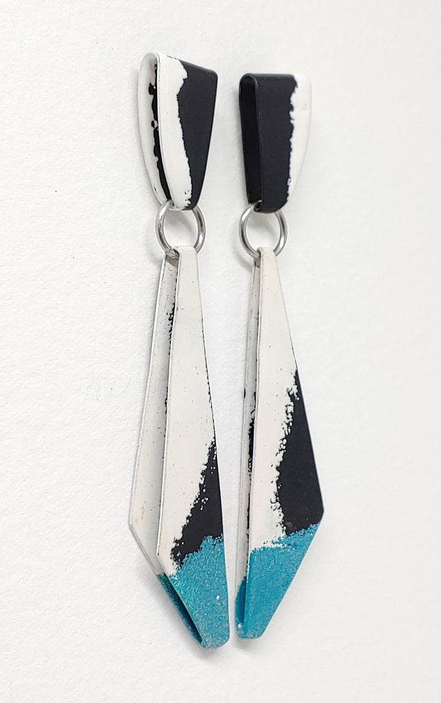 Edge Triangle Dangle Earrings