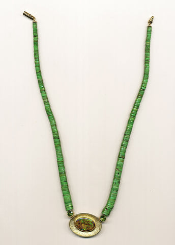 Chartreuse Bead Necklace
