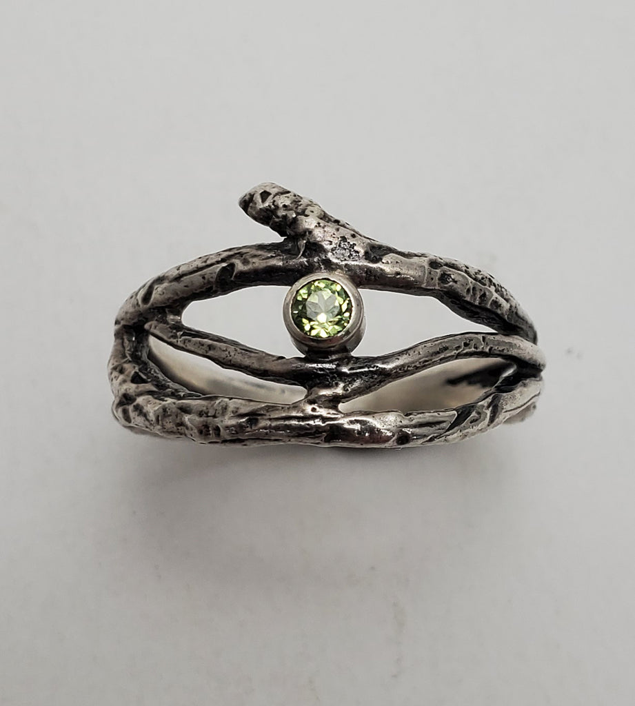 Multi-Twig and Peridot Ring