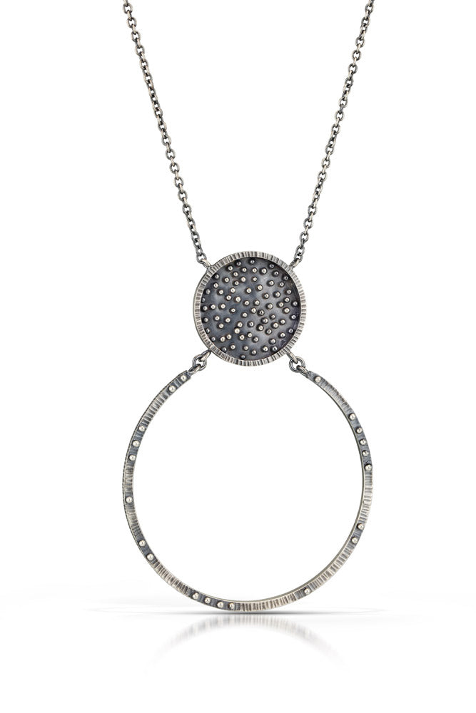 Scattered Dot Bezel Necklace