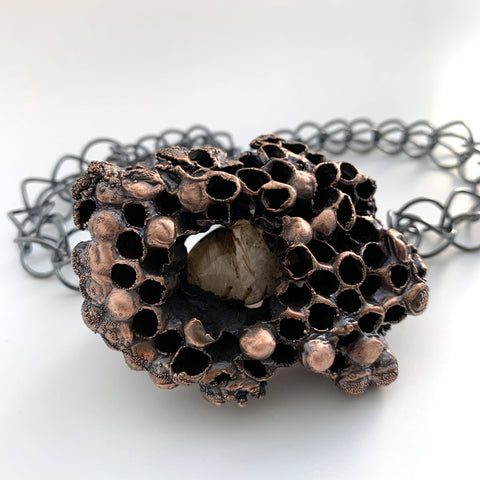 Large Wasp Nest Necklace