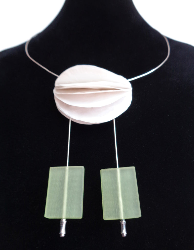 Green Flat Beads Necklace